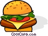 Vector Clip Art picture  of a hamburger