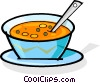 Vector Clipart illustration  of a bowl of soup