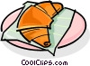 Vector Clip Art graphic  of a croissant