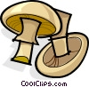 Whole mushrooms Vector Clip Art picture