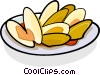 Clams on a plate Vector Clipart illustration