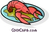 Vector Clip Art picture  of a lobster