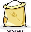 sack of flour Vector Clipart graphic
