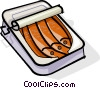 Vector Clip Art graphic  of a can of sardines