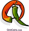 Vector Clip Art picture  of a Hot peppers