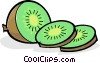Slices of kiwi Vector Clip Art picture