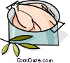 poultry cooking in a pot Vector Clip Art picture