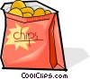 Vector Clip Art graphic  of a bag of chips