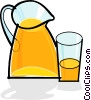 pitcher full of juice Vector Clip Art picture
