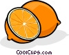 Vector Clipart illustration  of a Sliced oranges