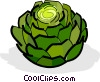 Vector Clipart image  of an artichokes