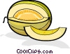 Vector Clip Art image  of a melon slices