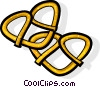 Vector Clipart picture  of a pretzel