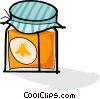 jar of honey Vector Clip Art graphic