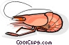 Vector Clipart graphic  of a Cooked shrimp