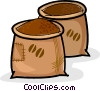 Vector Clip Art image  of a sacks of coffee beans