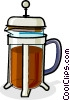 Vector Clipart picture  of a coffee maker