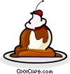 Vector Clip Art graphic  of a Ice cream dessert