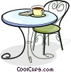 Vector Clip Art picture  of a coffee cup on a table