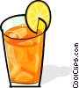 iced tea with a lemon slice Vector Clipart picture