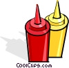 mustard and ketchup bottles Vector Clip Art picture