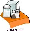 salt, pepper, sugar and napkins Vector Clipart image
