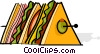 Vector Clipart picture  of a hors d'oeuvres