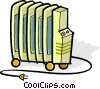 Vector Clipart graphic  of a electric radiators