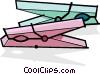 Vector Clipart graphic  of a clothes pins