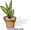 Vector Clipart image  of a potted plant