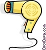 Vector Clipart illustration  of a hair dryer