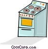 Vector Clip Art graphic  of a oven/stove