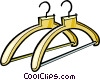 clothes hangers Vector Clipart graphic