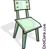 Vector Clipart image  of a chair