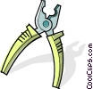 Vector Clip Art image  of a wire strippers