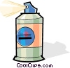 Vector Clip Art image  of a bottle of hair spray