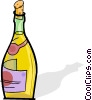 bottle of wine Vector Clipart graphic