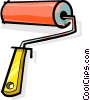Vector Clipart picture  of a paint roller