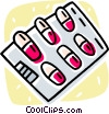 Vector Clipart picture  of a pills