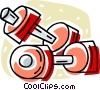 Vector Clipart graphic  of a dumbbells