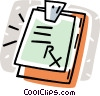 Vector Clipart graphic  of a clipboard with a doctor's