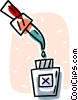Vector Clipart picture  of a ear/eye drops