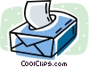 Vector Clip Art graphic  of a tissue boxes