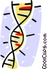 DNA strands Vector Clip Art graphic