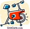 stationary bike Vector Clipart image