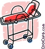 Vector Clipart picture  of a hospital gurney
