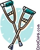 crutches Vector Clipart graphic