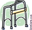 Vector Clip Art picture  of a walker