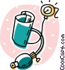Vector Clipart graphic  of a blood pressure cup