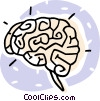Vector Clip Art picture  of a human brains